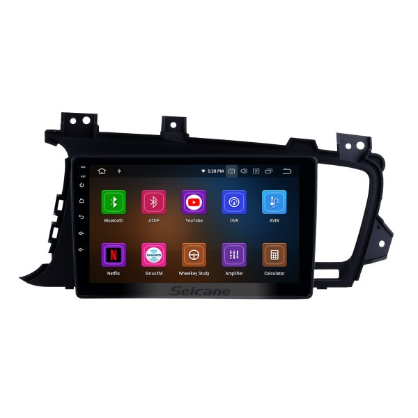 Android 9.0 Radio DVD player GPS navigation system for 2011 2012 2013 2014 KIA K5 LHD with HD 1024*600 touch screen Bluetooth  OBD2 DVR 3G WIFI Steering Wheel Control USB SD Rearview camera TV 1080P Video Mirror link