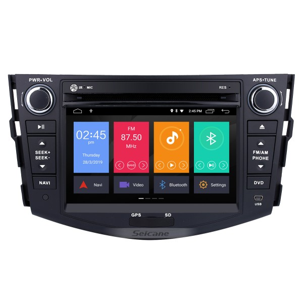 Android 9.0 2006-2012 Toyota Rav4 Radio DVD Audio 3D GPS System TV Tuner WiFi 3G Bluetooth Steering Wheel Control DVR AUX HD 1080P Backup Camera