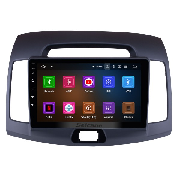 Android 9.0 2007-2011 HYUNDAI ELANTRA Radio Replacement GPS Navigation System Touch Screen Bluetooth MP3 Mirror Link OBD2 3G WiFi CD DVD Player Steering Wheel Control