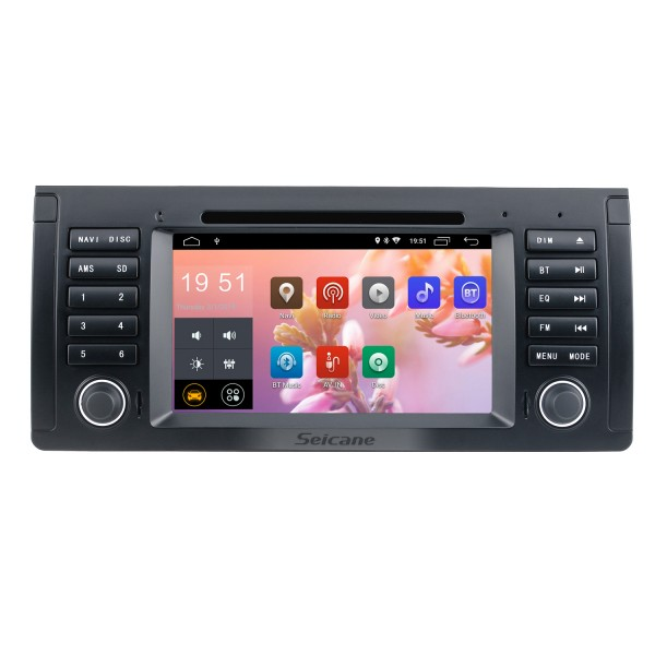 7 inch for 2000-2007 BMW X5 E53 3.0i 3.0d 4.4i 4.6is 4.8is 1996-2003 BMW 5 Series E39 radio with GPS Navigation Android 9.0 HD touch Screen Bluetooth WIFI Rearview camera