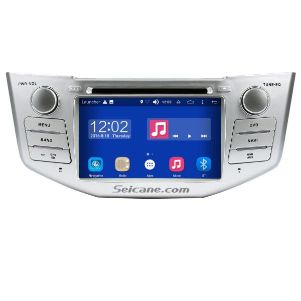 Pure Android 8.0 In Dash DVD GPS System for 2004-2012 Toyota Harrier with Bluetooth HD  touch screen OBD2 DVR Rearview camera TV 1080P Video 3G WIFI Steering Wheel Control USB SD