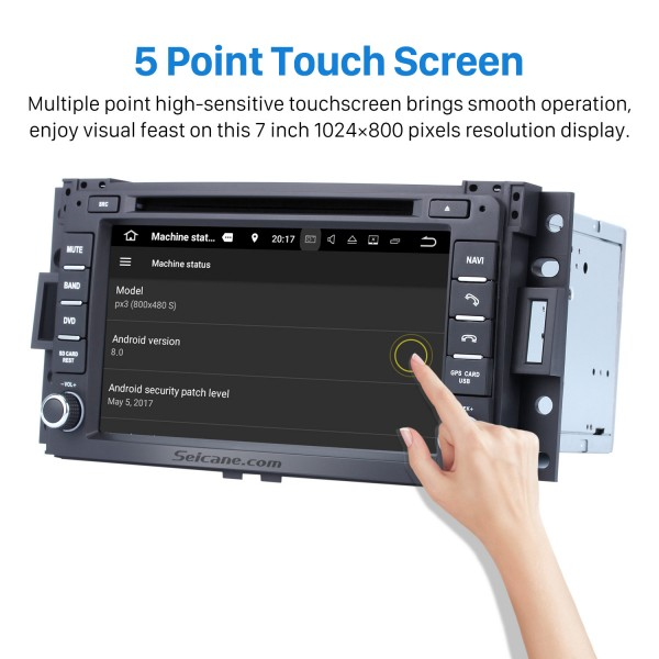 Android 8.0 Radio GPS Navigation system 2005 2006 2007 Buick Terraza with DVD Player HD Touch Screen Bluetooth WiFi TV Steering Wheel Contro 1080P Backup Camera