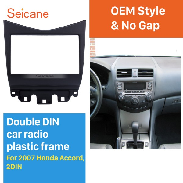 Popular Black 2Din 2007 Honda Accord Car Radio Fascia Stereo Install Audio Frame Dash Kit