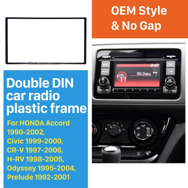 2 Din 178*102mm Black Universal Car Radio Fascia for HONDA automobile CD Trim Radio Frame Refitting Car Kits