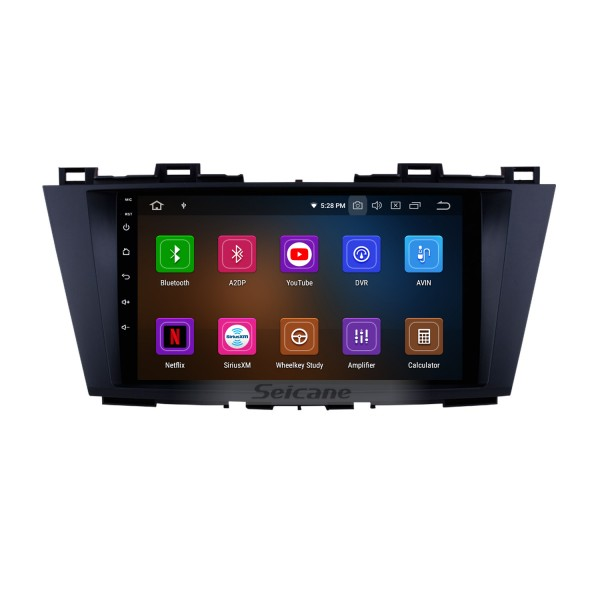 9 inch 2009-2012 MAZDA 5  Android 9.0  GPS navigation system with Radio Mirror link multi-touch screen OBD DVR Rear view camera TV 3G WIFI USB Bluetooth
