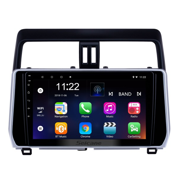 10.1 inch Android 8.1 GPS Navigation Radio for 2018 Toyota Prado with HD Touchscreen Bluetooth support Carplay Steering Wheel Control