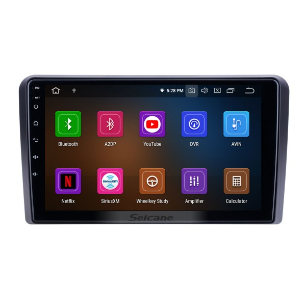 OEM 9 inch Android 9.0 for 2008 2009 2010 2011 2012 Audi A3 Radio Bluetooth AUX HD Touchscreen GPS Navigation Carplay support OBD2 TPMS