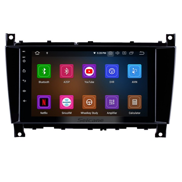 8 inch Android 10.0 GPS Navigation Radio for 2005-2007 Mercedes-Benz G Class W467 G550 G500 G400 G320 G270 G55 with HD Touchscreen Carplay Bluetooth support Mirror Link SWC