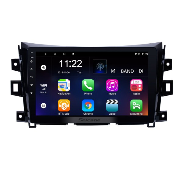 10.1 Inch 1024*600 Android 8.1 2011-2016 Nissan NAVARA Frontier NP300 Bluetooth GPS Navigation Stereo Head Unit with 1080P Touchscreen Video DAB+ Radio Tuner Steering Wheel Control USB Music