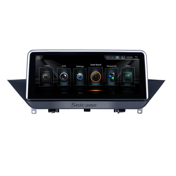 10.25 Inch HD Touchscreen Android 8.1 2009-2015 BMW X1 E84 Car Radio Head Unit GPS Navigation Bluetooth Support Rearview Camera Steering Wheel Control USB WIFI Mirror Link OBD2