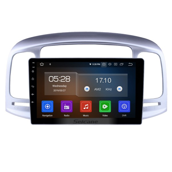 Android 10.0 9 inch GPS Navigation Radio for 2006-2011 Hyundai Accent Head Unit GPS Audio with Carplay Bluetooth WIFI USB AUX support DVD SWC OBD2 TPMS