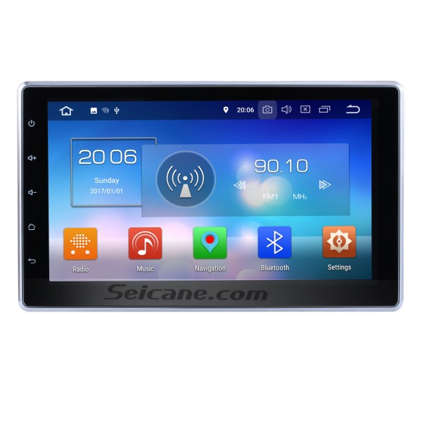10.1 Inch HD Touchscreen 2 DIN Android 8.0 Universal Radio DVD Player GPS Navigation System Bluetooth Phone Music WIFI Support Digital TV DVR USB Steering Wheel Control Backup Camera
