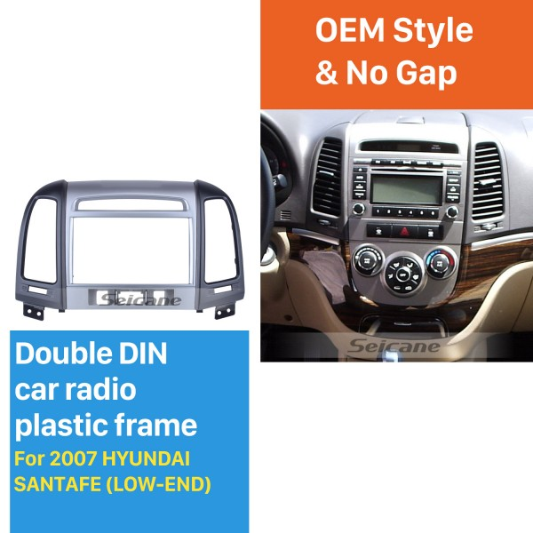 Professional 2Din 2007 HYUNDAI SANTAFE LOW-END Car Radio Fascia Install Frame Dash CD Auto Stereo Adapter