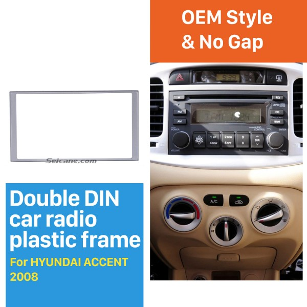 Fantastic Double Din 2008 HYUNDAI ACCENT Car Radio Fascia Audio Player Trim Installation Panel Frame