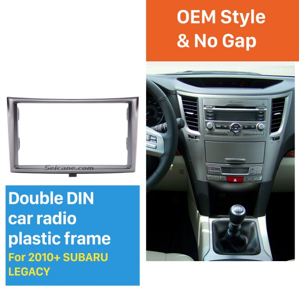 173*98/178*100/178*102mm Double Din Car Radio Fascia for 2010+ Subaru Legacy DVD Stereo Trim Panel Dash Mount Plate Frame