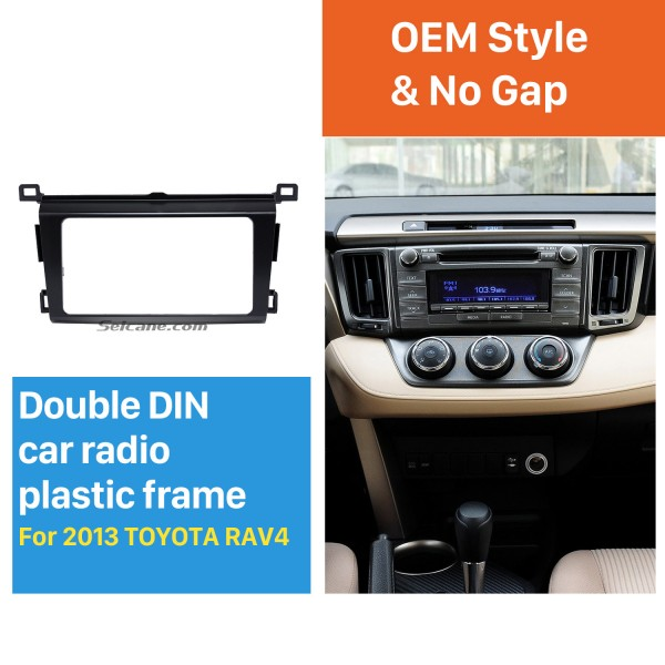 Classy 2Din 2013 TOYOTA RAV4 Car Radio Fascia Audio Fitting Adaptor Install Frame DVD Stereo Player