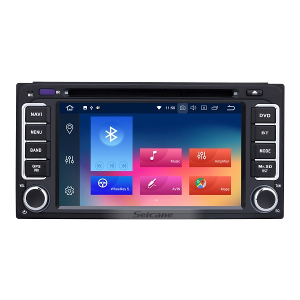 Android 9.0 2005-2011 TOYOTA Vitz Echo HD Touch Screen Car Stereo with Bluetooth Radio DVD Player GPS Sat Nav Mirror Link WIFI Steering Wheel Control