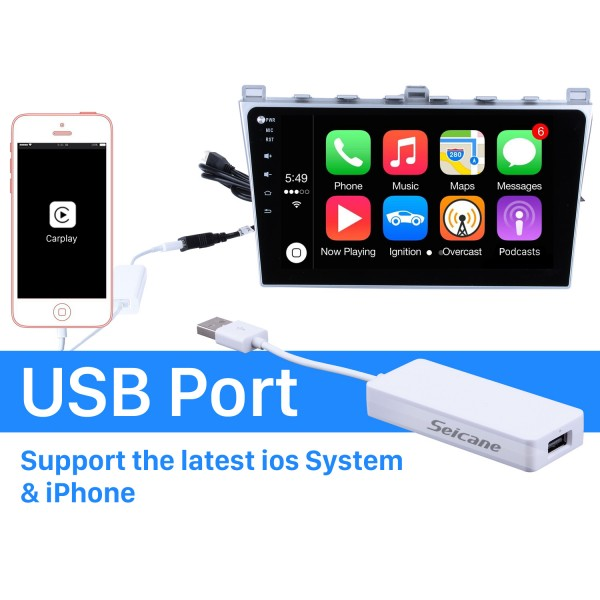 Plug and Play Carplay Android Auto USB Dongle For Android Car Radio Support IOS IPhone Car touch screen control Siri Microphone voice control