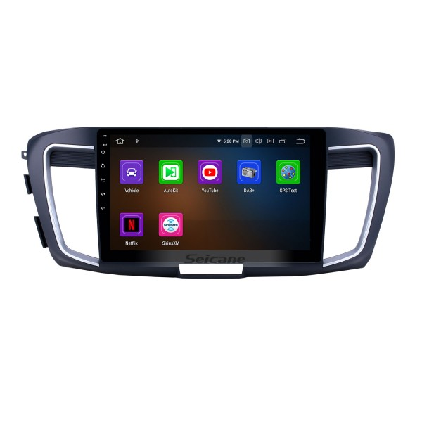 10.1 inch Android 9.0 Radio for 2013 Honda Accord 9 High version Bluetooth Touchscreen GPS Navigation Carplay USB support OBD2 SWC