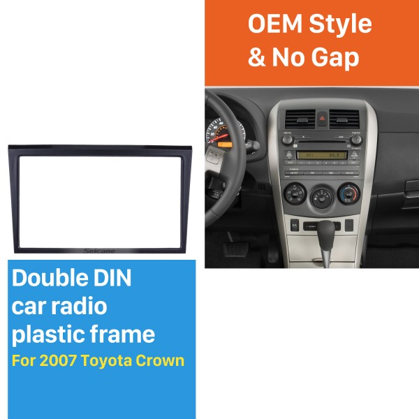 173*98 Wonderful Double Din 2007 Toyota Crown Car Radio Fascia Stereo Frame Install Dash Mount Kit Face Plate
