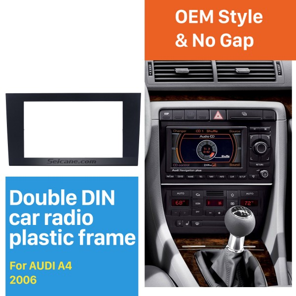 173*98mm Double Din 2004 2005 2006 2007 2008 Audi A4 Car Radio Fascia Autostereo Panel kit Audio Frame Trim Bezel