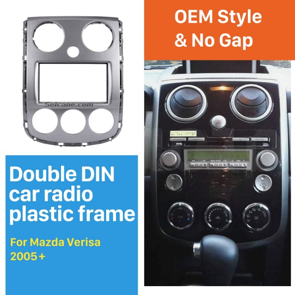 Superior 2Din 2005+ Mazda Verisa Car Radio Fascia Dash DVD Player Installation Frame Panel kit Dash Mount Adaptor