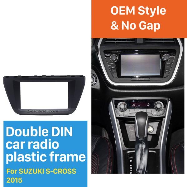 173*98mm Double Din 2015 Suzuki S-cross Car Radio Fascia Audio Player Stereo Frame Panel CD Trim