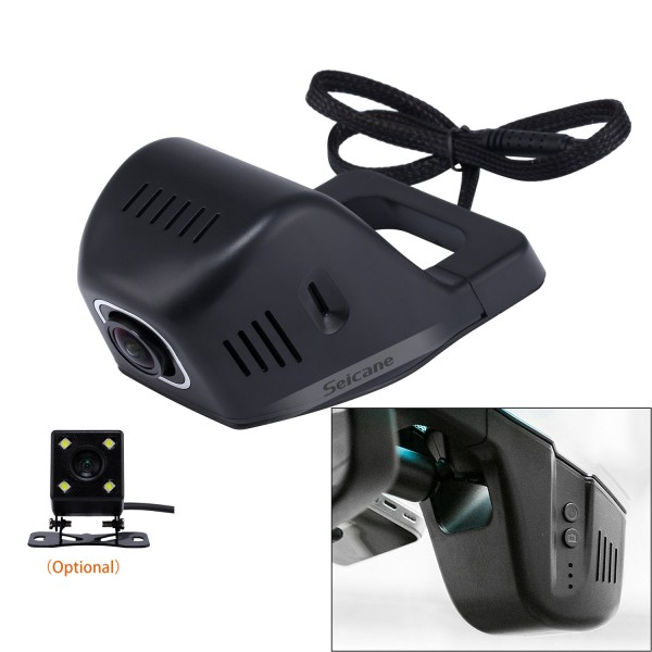 Universal Hidden HD 170 Degree Wide Angle Car Driving Video Recorder with WIFI Phone Connection Display GPS Driving Trajectory Parking Monitoring Backup Rearview Camera