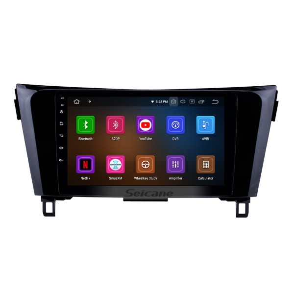 9 inch HD touchscreen Radio GPS navigation system Android 9.0 for 2012-2017 NEW Nissan X-TRAIL Qashqai Steering Control Wheel 3G/4G WiFi Audio Bluetooth OBD2