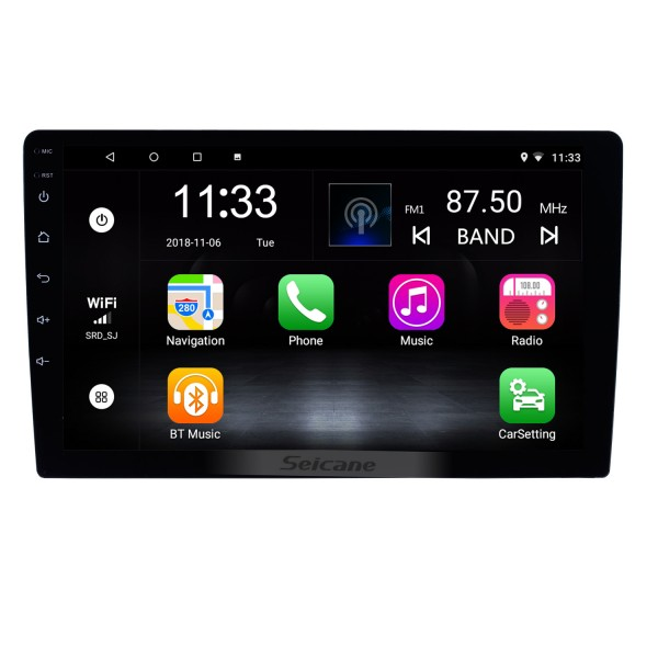 HD Touchscreen Android 7.1 9 inch Universal GPS Navigation Radio with Bluetooth WIFI Support 1080P Video Steering Wheel Control Mirror Link