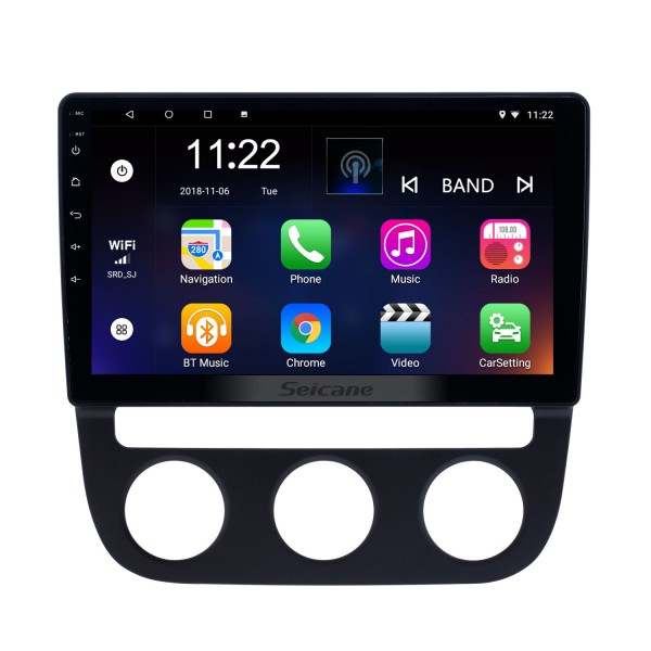 10.1 inch Android 8.1 GPS Navigation Radio for 2006-2010 VW Volkswagen Sagitar Auto A/C With HD Touchscreen Bluetooth support Carplay TPMS