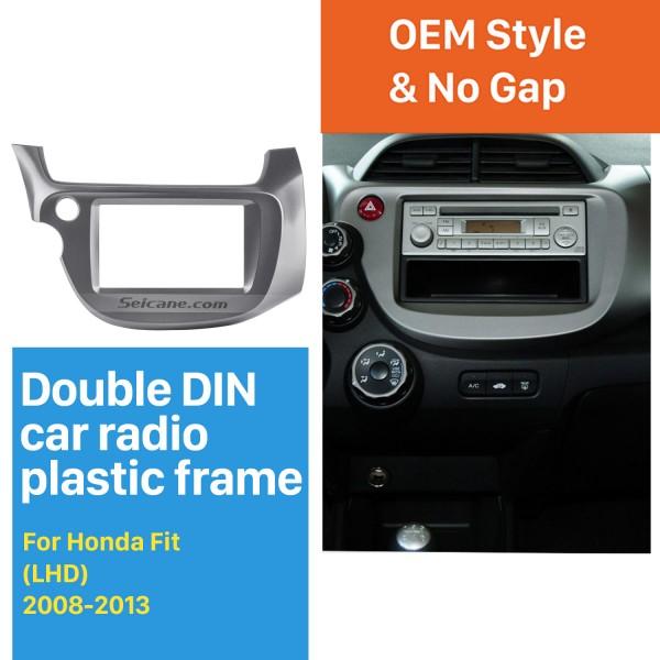 Professional Gray 2Din 2008 2009 2010 2011-2013 Honda Fit LHD Car Radio Fascia Audio Cover Fitting Frame CD Trim Panel