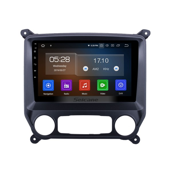 Android 10.0 10.1 inch 2014-2018 Chevy Chevrolet Silverado Car Radio with GPS Nav HD Touchscreen FM Audio Carplay Bluetooth WIFI support 4G SWC DVD