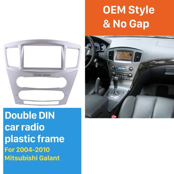 Top Quality 2Din 2004-2010 Mitsubishi Galant Grunder Car Radio Fascia Audio Frame Trim Dash Installation Kit Plate Frame