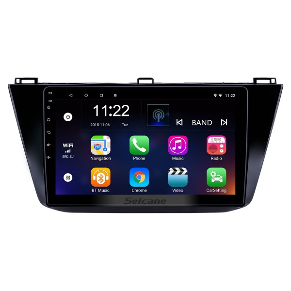 10.1 inch Android 8.1 GPS Navigation Radio for 2016-2018 VW Volkswagen Tiguan with HD Touchscreen Bluetooth USB support Carplay TPMS