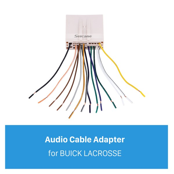 Hot Car Audio Cable Wiring Harness Adapter for BUICK LACROSSE