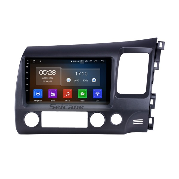 9 inch Android 10.0 Radio for 2006-2011 Honda Civic RHD with GPS Navigation HD Touchscreen Bluetooth USB Carplay support OBD2 Rearview camera 4G WIFI