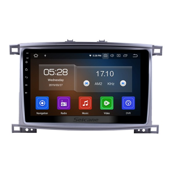 10.1 inch Android 10.0 Radio for 2003-2008 Toyota Land Cruiser 100 Auto A/C Bluetooth Touchscreen GPS Navigation Carplay USB AUX support TPMS DAB+ SWC