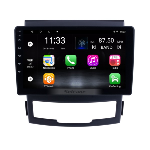 For 2011 2012 2013 SsangYong Korando Radio Android 10.0 HD Touchscreen 9 inch GPS Navigation with Bluetooth USB support Carplay SWC