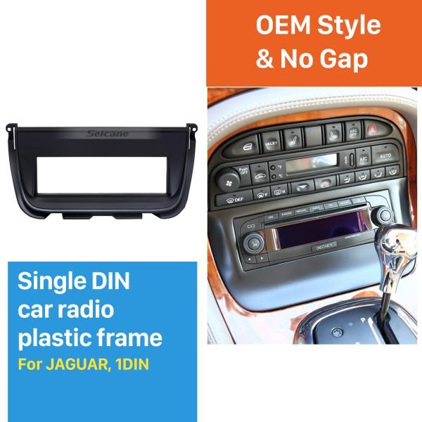 Exquisite 1Din Car Radio Fascia for Jaguar Trim Dash DVD Stereo Player Decorative Frame Installation Kit