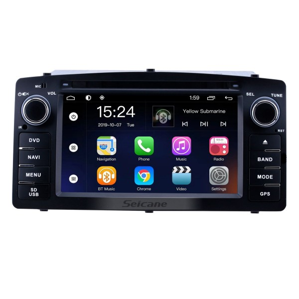 HD Touchscreen for 2003 2004 2005-2012 Toyota Corolla E120 BYD F3 Radio Android 9.0 6.2 inch GPS Navigation System Bluetooth support Carplay OBD2