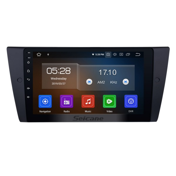 9 inch Android 9.0 Car GPS Navi Radio for 2005-2012 BMW 3 Series E90 E91 E92 E93 316i 318i 320i 320si 323i 325i 328i 330i 335i 335is M3 316d 318d 320d 325d 330d 335d Bluetooth TV Bluetooth music DVD player Steering Wheel Control  4G WIFI