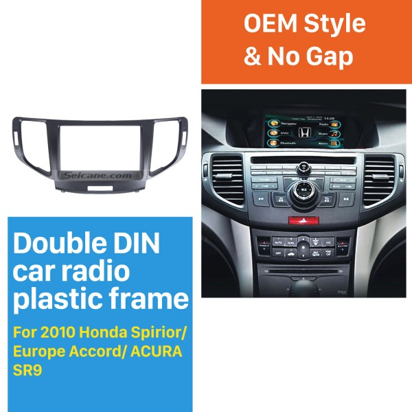 Luxuriant 2Din 2010 Honda Accord Europe/Spirior/ACURA SR9 Car Radio Fascia Trim Install Frame Dash Kit Panel Frame