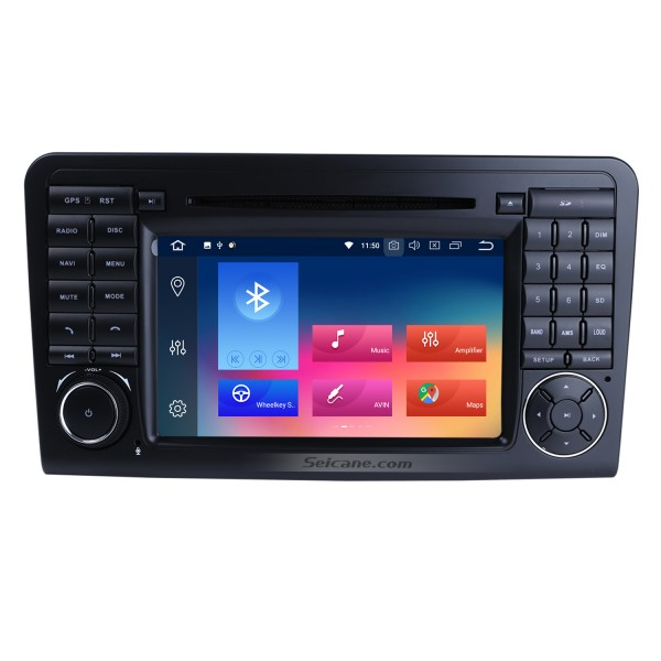 7 inch Multi-touch screen Android 9.0 Radio DVD Player GPS Navigation system for 2005-2012 Mercedes Benz GL CLASS X164 GL320 with Bluetooth USB SD WIFI Canbus 1080P Video Mirror Link