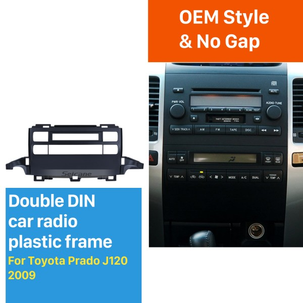 Great 2009 Toyota Prado J120 Car Radio Fascia Dash Kit Audio Player Car DVD Gps Decorative Frame