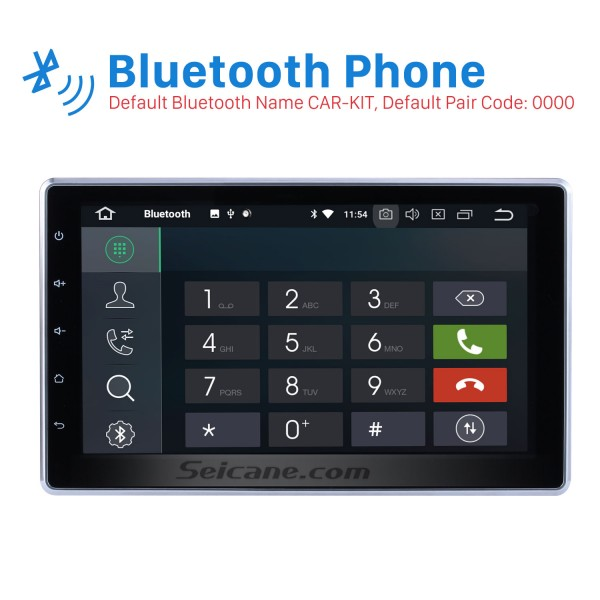 10.1 inch 2 DIN Universal 1024*600 Touchscreen Android 8.0 radio GPS Navigation System with WIFI 3G Bluetooth Music USB OBD2 AUX Radio Backup Camera Steering Wheel Control