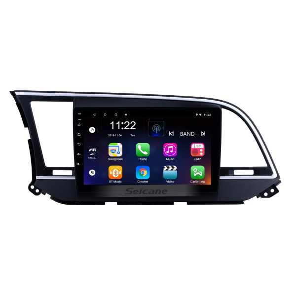 9 inch HD Touchscreen Android 8.1 Radio GPS Navi head unit Replace for 2016 Hyundai Elantra LHD Support USB WIFI Radio Bluetooth Mirror Link DVR OBD2 TPMS Aux