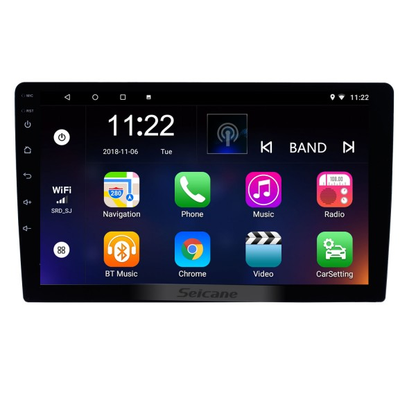 HD Touchscreen Android 10.0 9 inch Universal GPS Navigation Radio with Bluetooth WIFI Support 1080P Video Steering Wheel Control Mirror Link