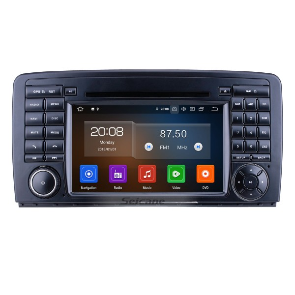7 inch Android 9.0 for 2006-2011 2012 2013 Mercedes Benz R Class W251 R280 R300 R320 R350 R500 R63 Radio with HD Touchscreen GPS Navigation Carplay Bluetooth support 1080P