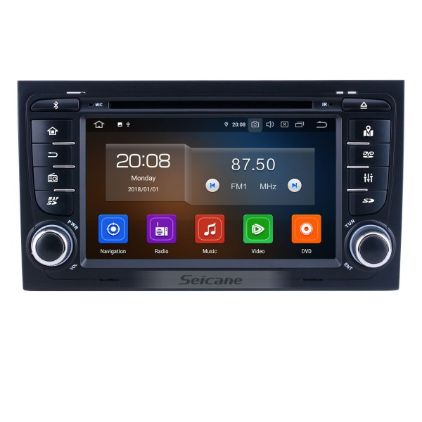 For 2011 Audi A4 Radio 7 inch Android 10.0 HD Touchscreen Bluetooth with GPS Navigation System Carplay support Rear camera OBD2